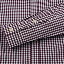 Мужская рубашка Lyle & Scott LS Slim Fit Gingham Burgundy/White фото- 3
