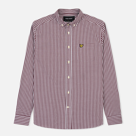 Мужская рубашка Lyle & Scott LS Slim Fit Gingham Claret Jug