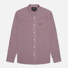 Мужская рубашка Lyle & Scott LS Slim Fit Gingham Merlot/White фото- 0