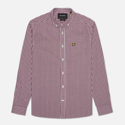 Мужская рубашка Lyle & Scott LS Slim Fit Gingham Merlot/White
