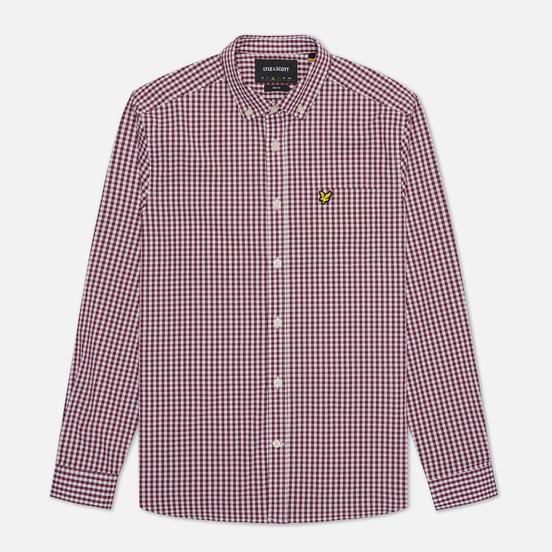 Мужская рубашка Lyle & Scott LS Slim Fit Gingham Merlot/White