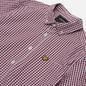 Мужская рубашка Lyle & Scott LS Slim Fit Gingham Merlot/White фото - 1