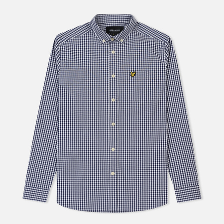 Мужская рубашка Lyle & Scott LS Slim Fit Gingham Navy