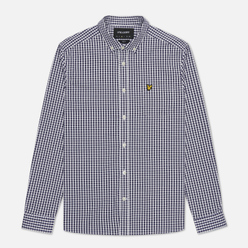 Мужская рубашка Lyle & Scott LS Slim Fit Gingham Navy/White