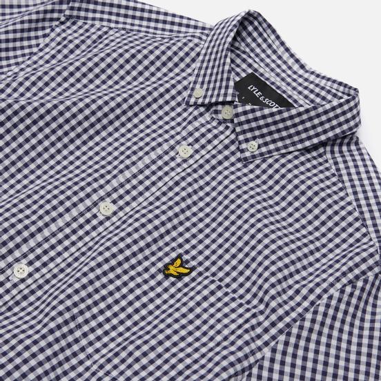 Мужская рубашка Lyle & Scott LS Slim Fit Gingham Navy/White