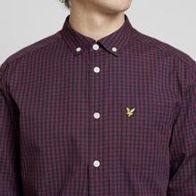 Мужская рубашка Lyle & Scott LS Slim Fit Gingham True Black фото- 2