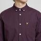 Мужская рубашка Lyle & Scott LS Slim Fit Gingham True Black фото - 2
