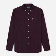 Мужская рубашка Lyle & Scott LS Slim Fit Gingham True Black фото- 0