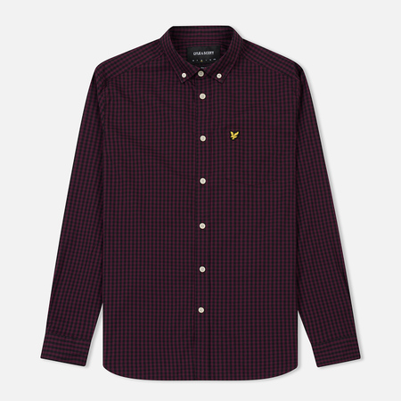 Мужская рубашка Lyle & Scott LS Slim Fit Gingham True Black