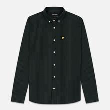 Мужская рубашка Lyle & Scott LS Slim Fit Gingham True Black/Jade Green фото- 0