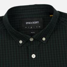 Мужская рубашка Lyle & Scott LS Slim Fit Gingham True Black/Jade Green фото- 1