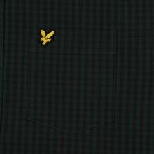 Мужская рубашка Lyle & Scott LS Slim Fit Gingham True Black/Jade Green фото- 2