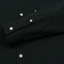 Мужская рубашка Lyle & Scott LS Slim Fit Gingham True Black/Jade Green фото- 3