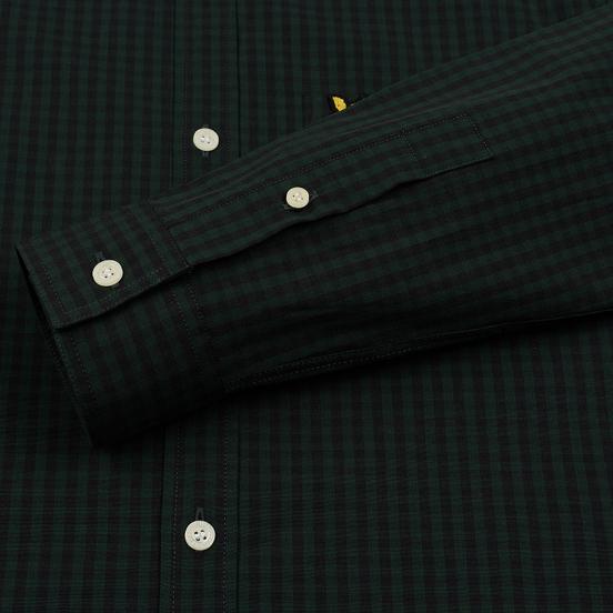 Мужская рубашка Lyle & Scott LS Slim Fit Gingham True Black/Jade Green
