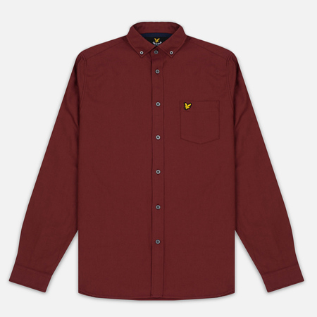 Lyle & Scott Oxford Button-Down Men's Shirt Claret Jug