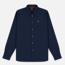 Мужская рубашка Lyle & Scott Oxford Button-Down Navy фото- 0