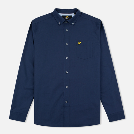 Lyle & Scott Men's shirt Oxford Button-Down Navy