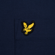 Мужская рубашка Lyle & Scott Oxford Button-Down Navy фото- 2