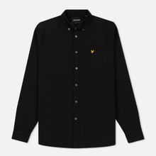 Мужская рубашка Lyle & Scott Oxford Button-Down True Black фото- 0