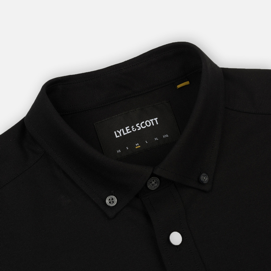 Мужская рубашка Lyle & Scott Oxford Button-Down True Black