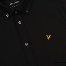 Мужская рубашка Lyle & Scott Oxford Button-Down True Black фото- 2
