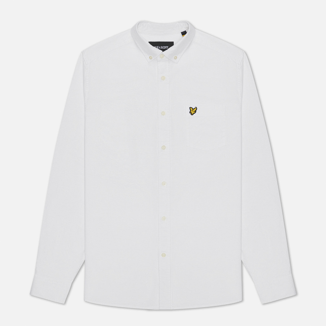 Мужская рубашка Lyle & Scott Oxford Button-Down White