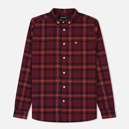 Мужская рубашка Lyle & Scott Poplin Check Flannel Claret Jug/Dark Navy