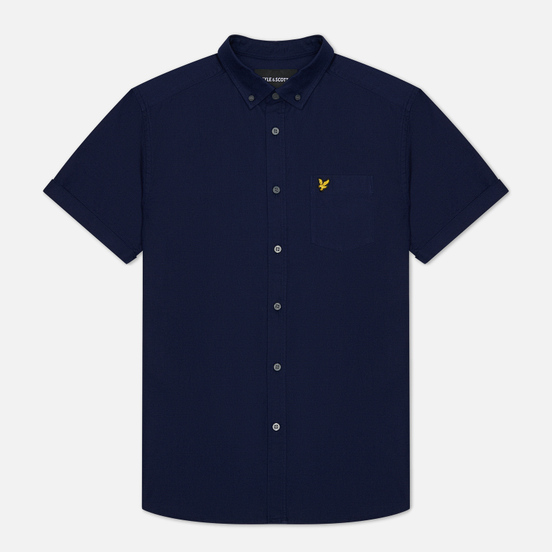 Мужская рубашка Lyle & Scott Short Sleeve Oxford Navy