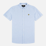 Мужская рубашка Lyle & Scott SS Plain Oxford Riviera фото- 0