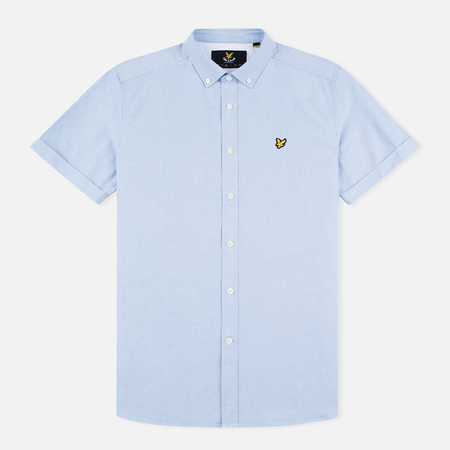 Мужская рубашка Lyle & Scott SS Plain Oxford Riviera