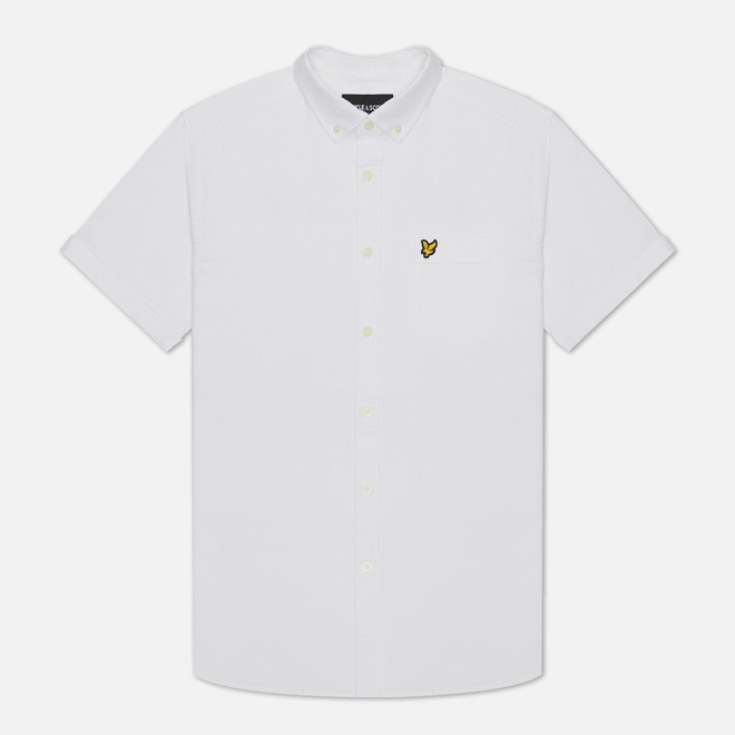 Мужская рубашка Lyle & Scott Short Sleeve Oxford White
