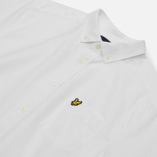 Мужская рубашка Lyle & Scott Short Sleeve Oxford White фото- 1