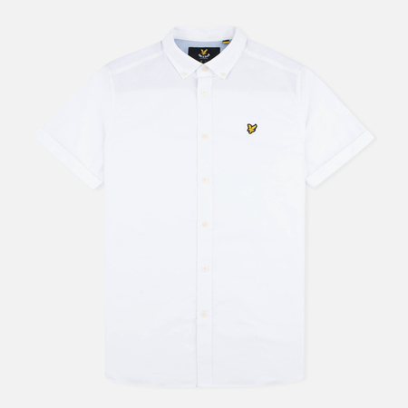 Мужская рубашка Lyle & Scott SS Plain Oxford White