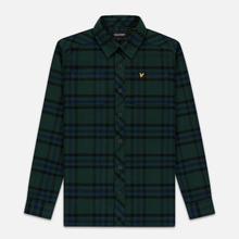 Мужская рубашка Lyle & Scott Tartan Overshirt Jade Green фото- 0
