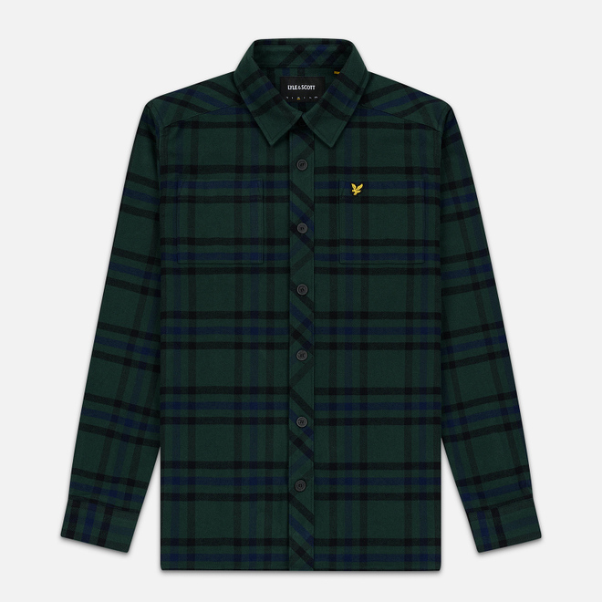 Мужская рубашка Lyle & Scott Tartan Overshirt Jade Green