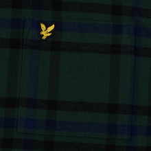Мужская рубашка Lyle & Scott Tartan Overshirt Jade Green фото- 2