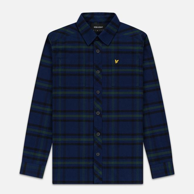Мужская рубашка Lyle & Scott Tartan Overshirt Navy