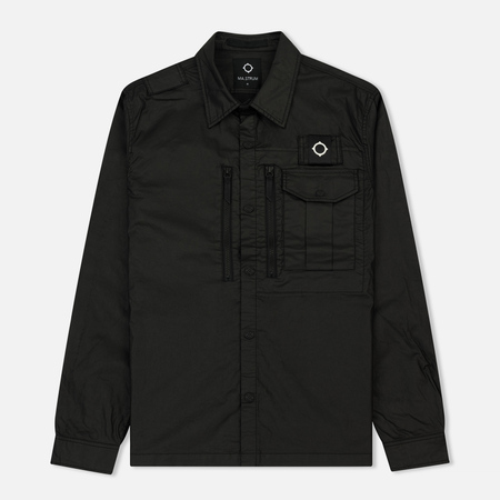 Мужская рубашка MA.Strum Macabi Overshirt Jet Black