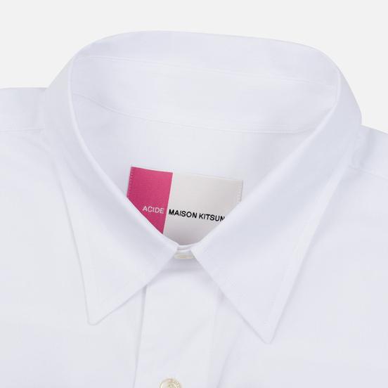 Мужская рубашка Maison Kitsune Acide Fox Casual White
