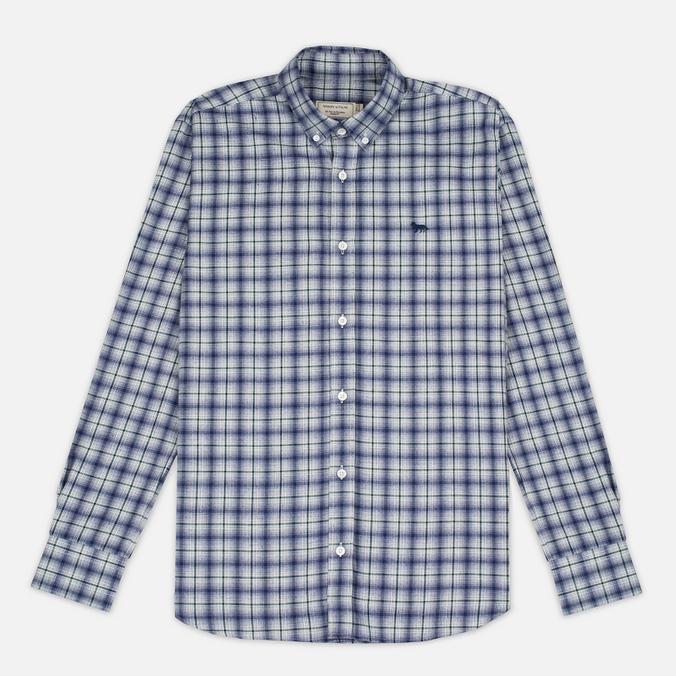 Maison Kitsune Check Classic Pearl Men's Shirt Grey