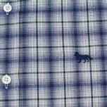 Мужская рубашка Maison Kitsune Check Classic Pearl Grey фото- 2