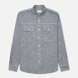 Мужская рубашка Maison Kitsune Cotton Flannel Navy фото- 0
