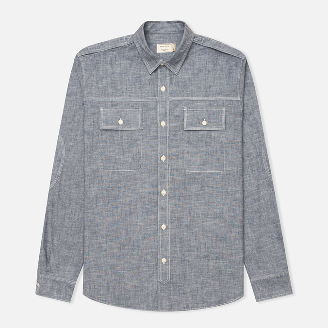 Maison Kitsune Cotton Flannel Men's Shirt Navy