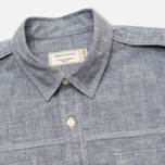 Maison Kitsune Cotton Flannel Men's Shirt Navy photo- 1