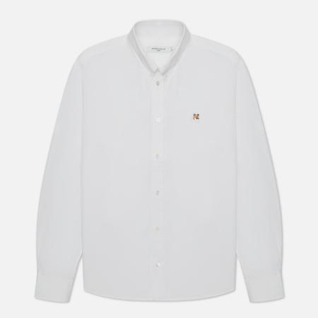 Мужская рубашка Maison Kitsune Fox Head Embroidery Classic White