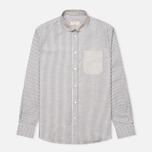 Мужская рубашка Maison Kitsune Irregular Stripes Dark Grey Melange фото- 0