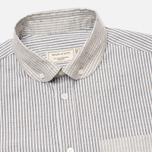 Мужская рубашка Maison Kitsune Stripes Dark Grey Melange фото- 1