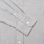 Мужская рубашка Maison Kitsune Irregular Stripes Dark Grey Melange фото- 3