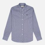 Мужская рубашка Maison Kitsune Jacquard Dots Dark Navy фото- 0
