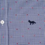 Мужская рубашка Maison Kitsune Jacquard Dots Dark Navy фото- 2